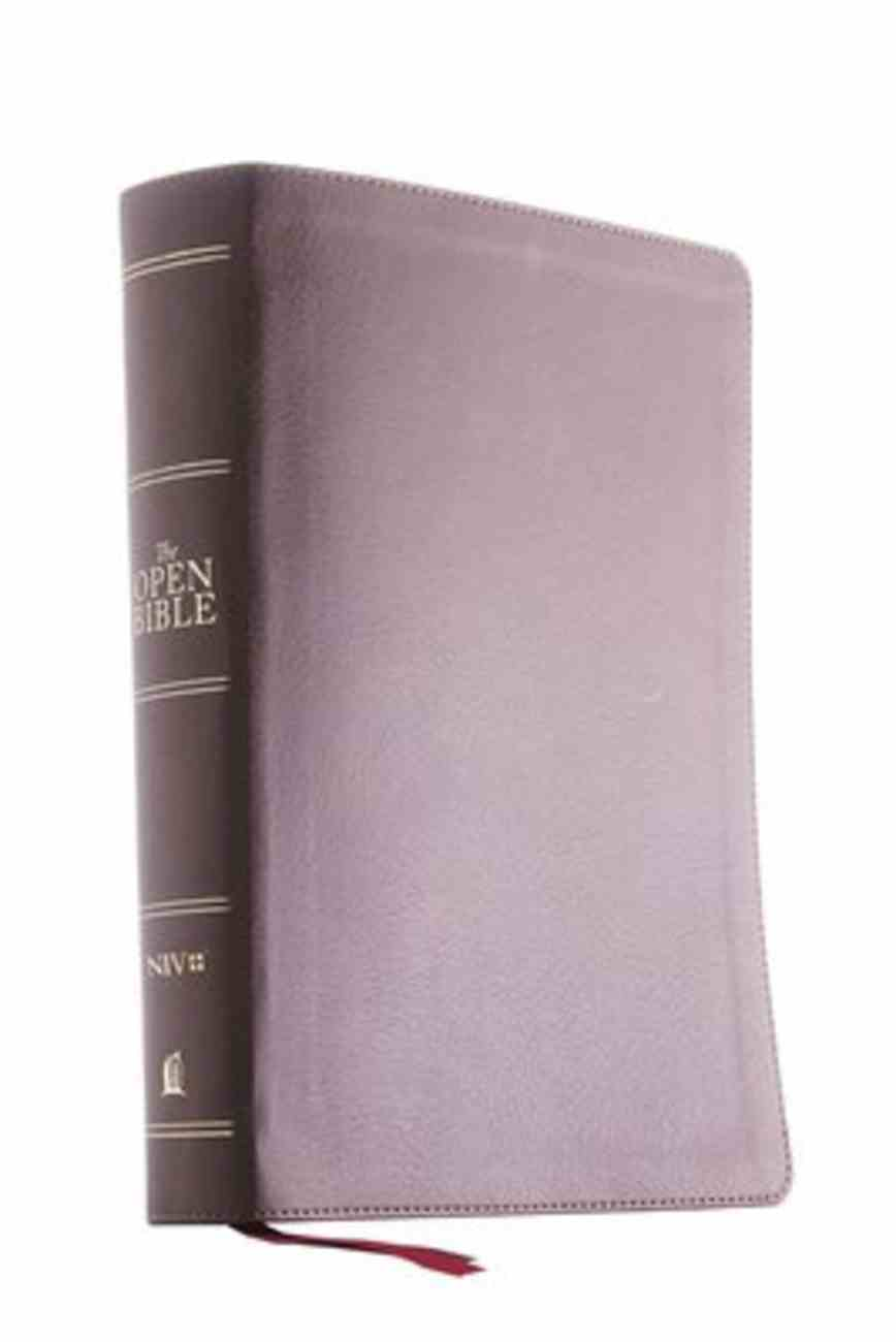 NIV Open Bible Brown (Red Letter Edition) Premium Imitation Leather