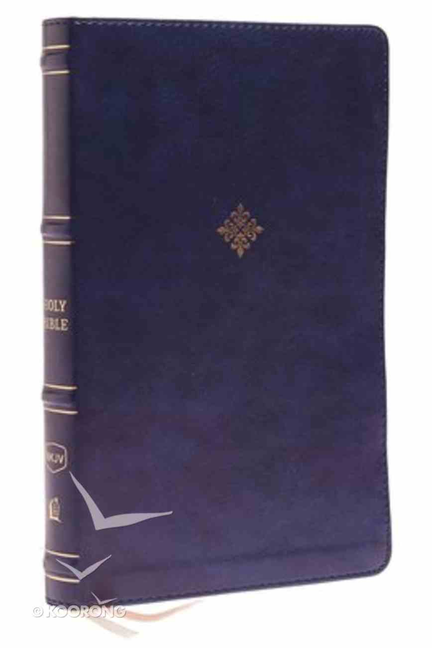 NKJV Thinline Bible Navy (Red Letter Edition) Premium Imitation Leather