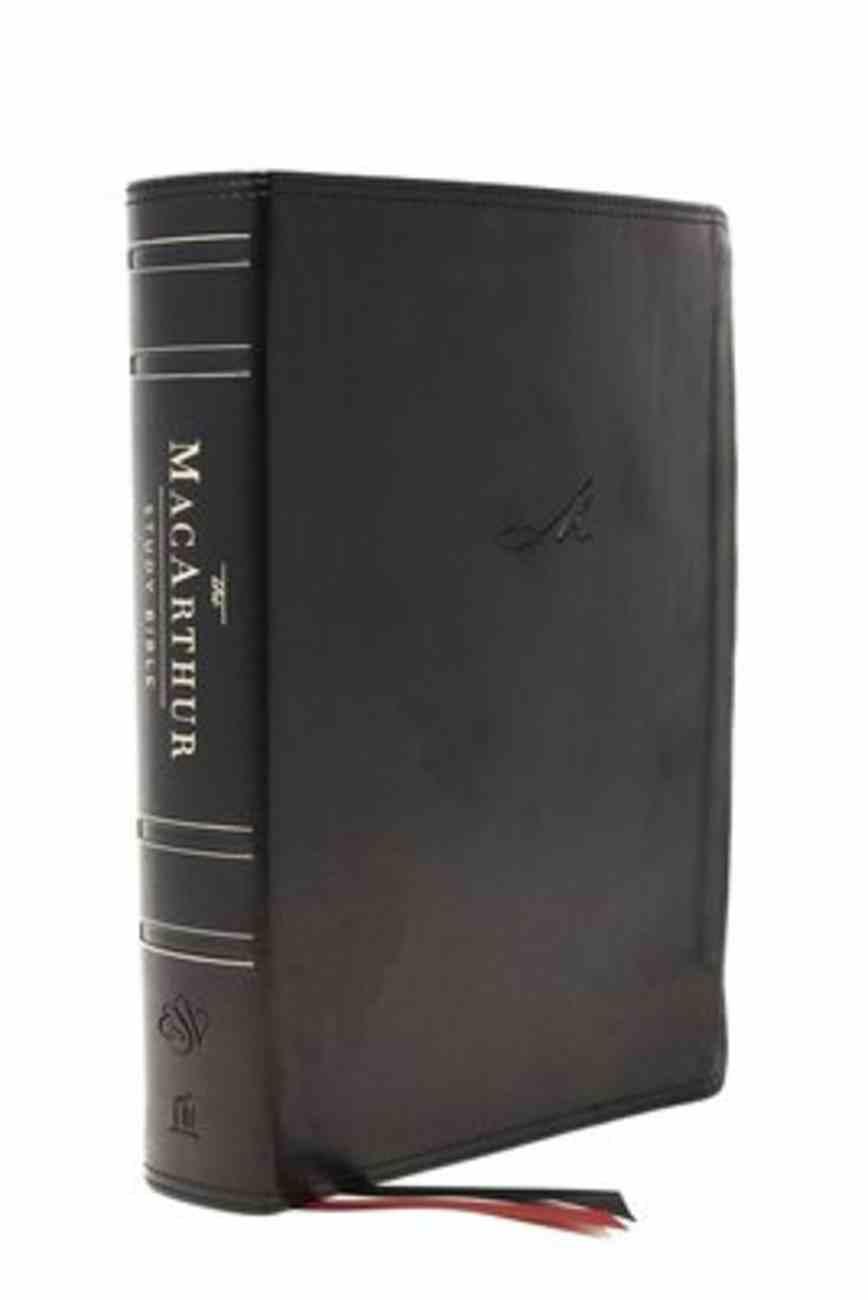 ESV Macarthur Study Bible 2nd Edition Black Thumb Indexed (Black Letter Edition) Premium Imitation Leather