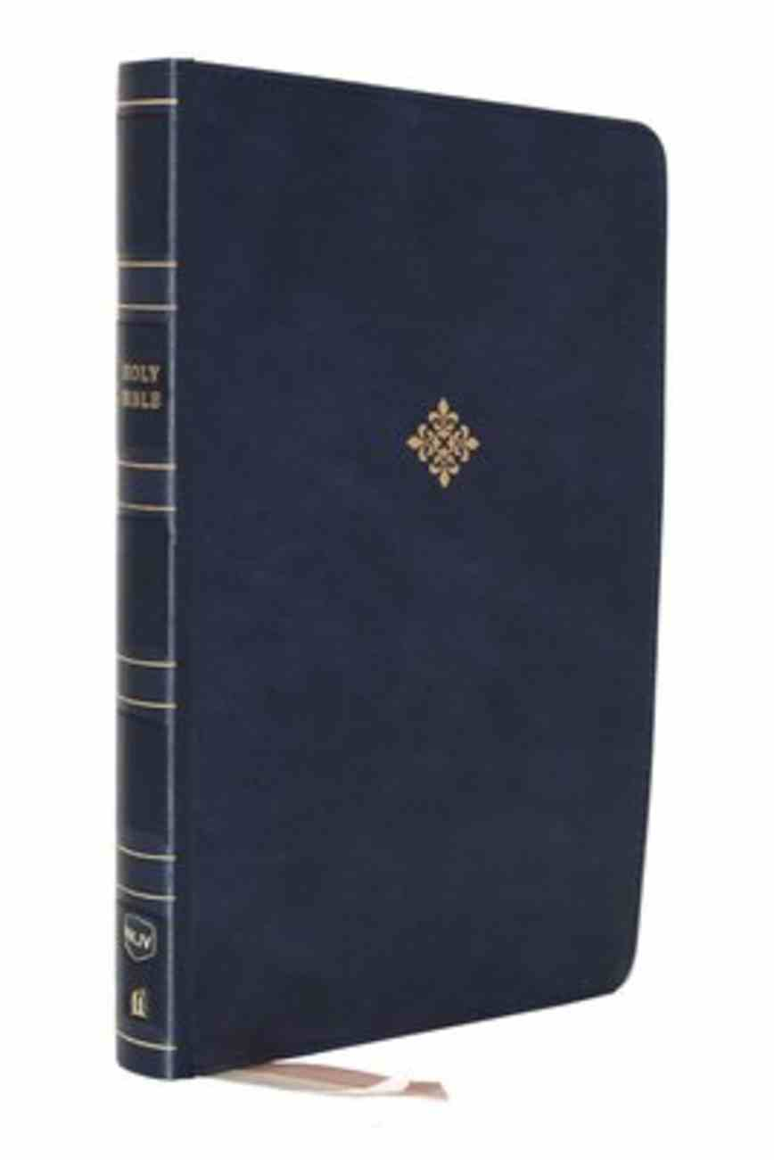 NKJV Thinline Reference Bible Blue (Red Letter Edition) Premium Imitation Leather