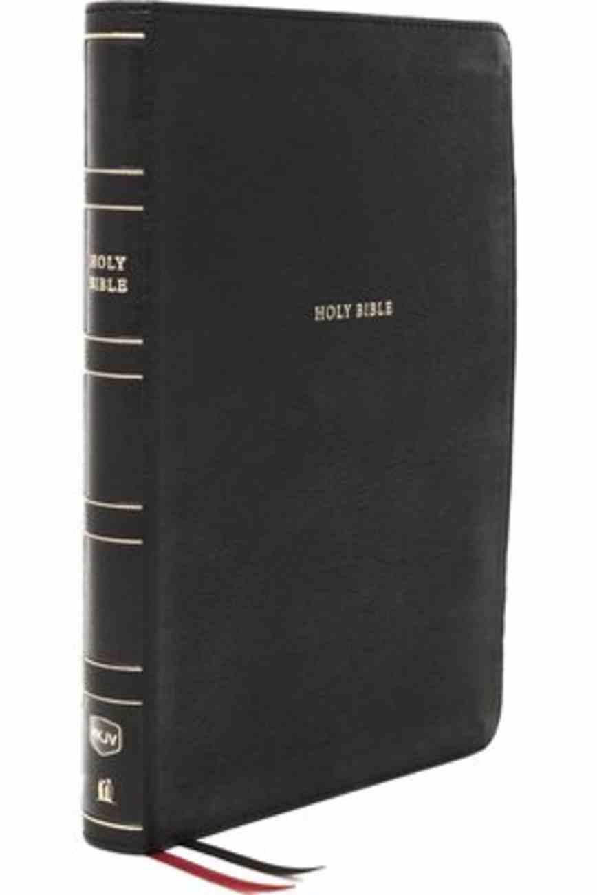 NKJV Thinline Bible Large Print Black Premium Imitation Leather