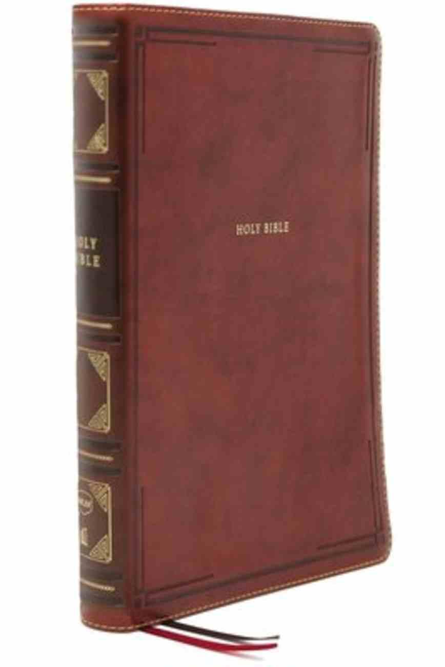 NKJV Thinline Bible Large Print Brown Thumb Indexed Premium Imitation Leather