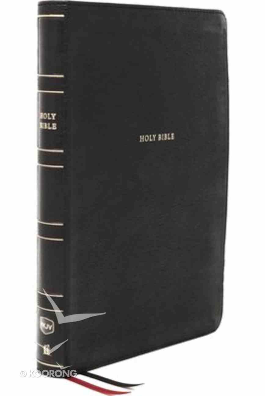 NKJV Reference Bible Super Giant Print Black (Red Letter Edition) Premium Imitation Leather