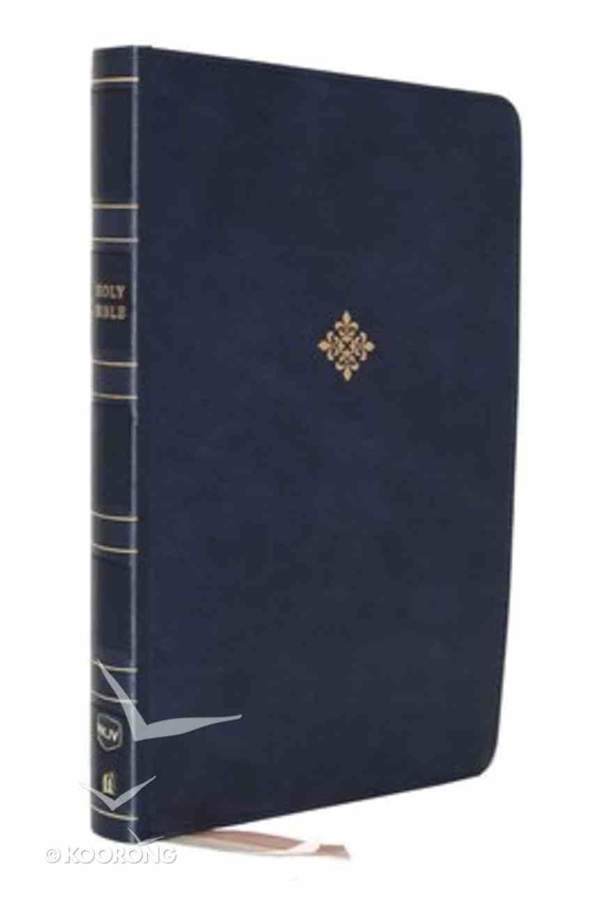 NKJV Reference Bible Center-Column Giant Print Blue (Red Letter Edition) Premium Imitation Leather