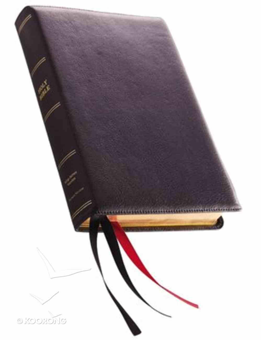 KJV Thinline Bible Giant Print Black Premier Collection (Black Letter Edition) Genuine Leather