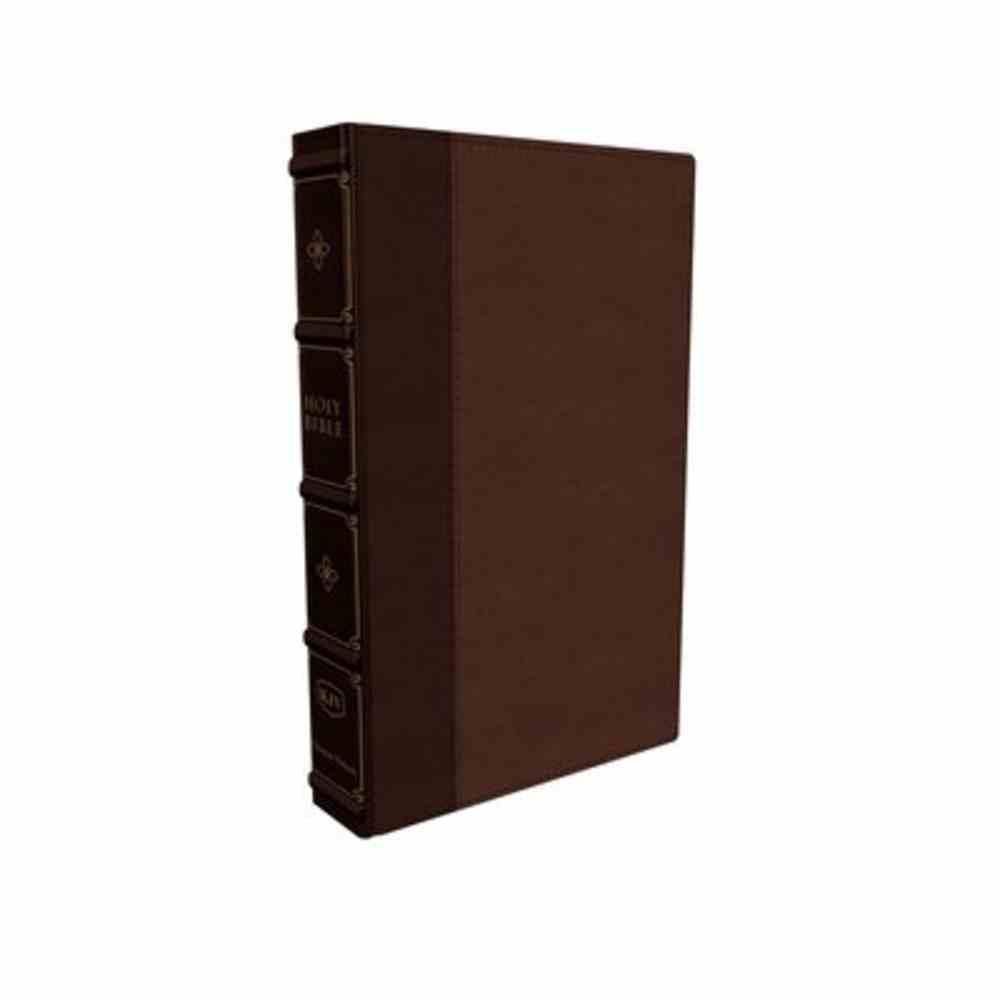 KJV Large Print Verse-By-Verse Reference Bible Maclaren Series Brown Premium Imitation Leather