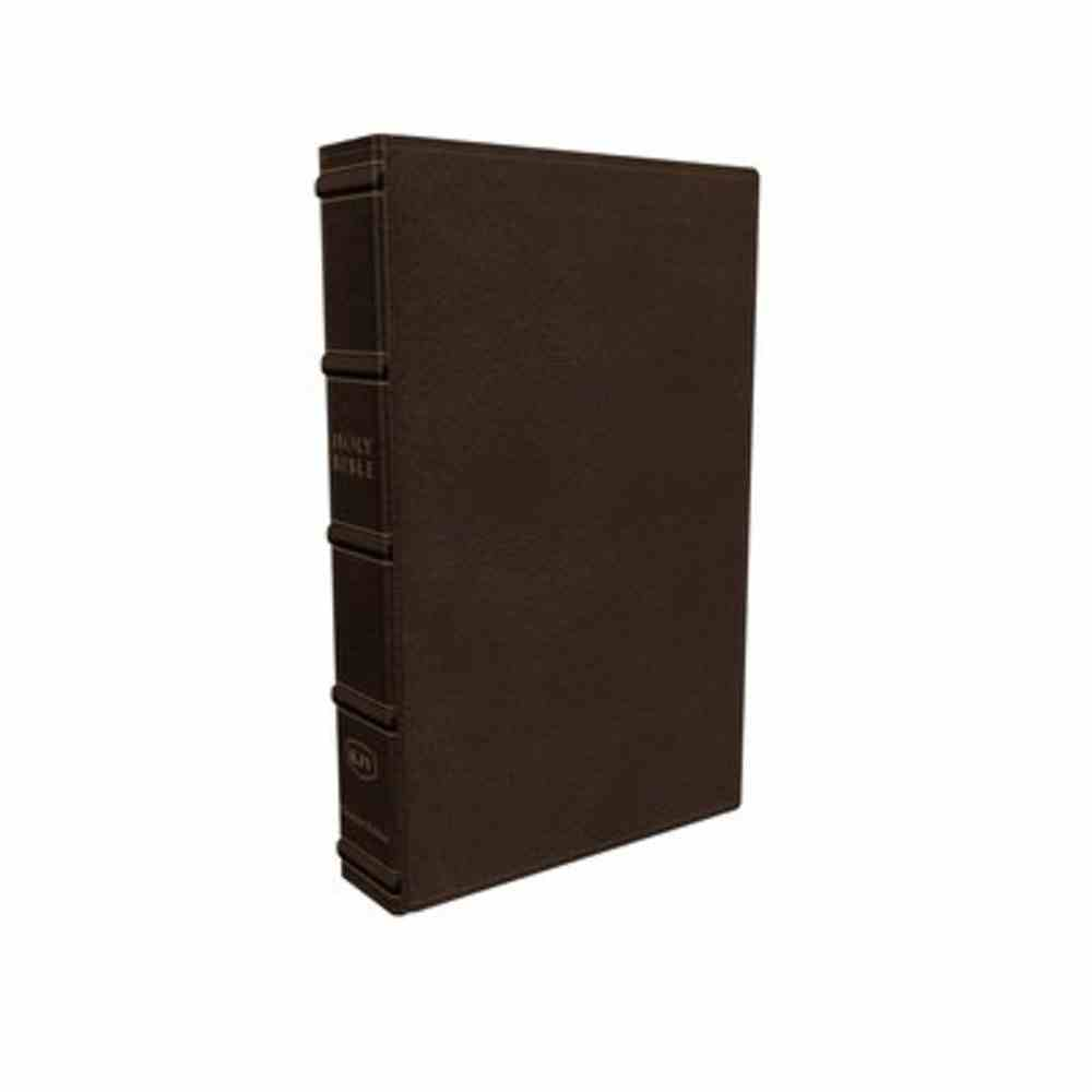 KJV Large Print Verse-By-Verse Reference Bible Maclaren Series Brown Genuine Leather
