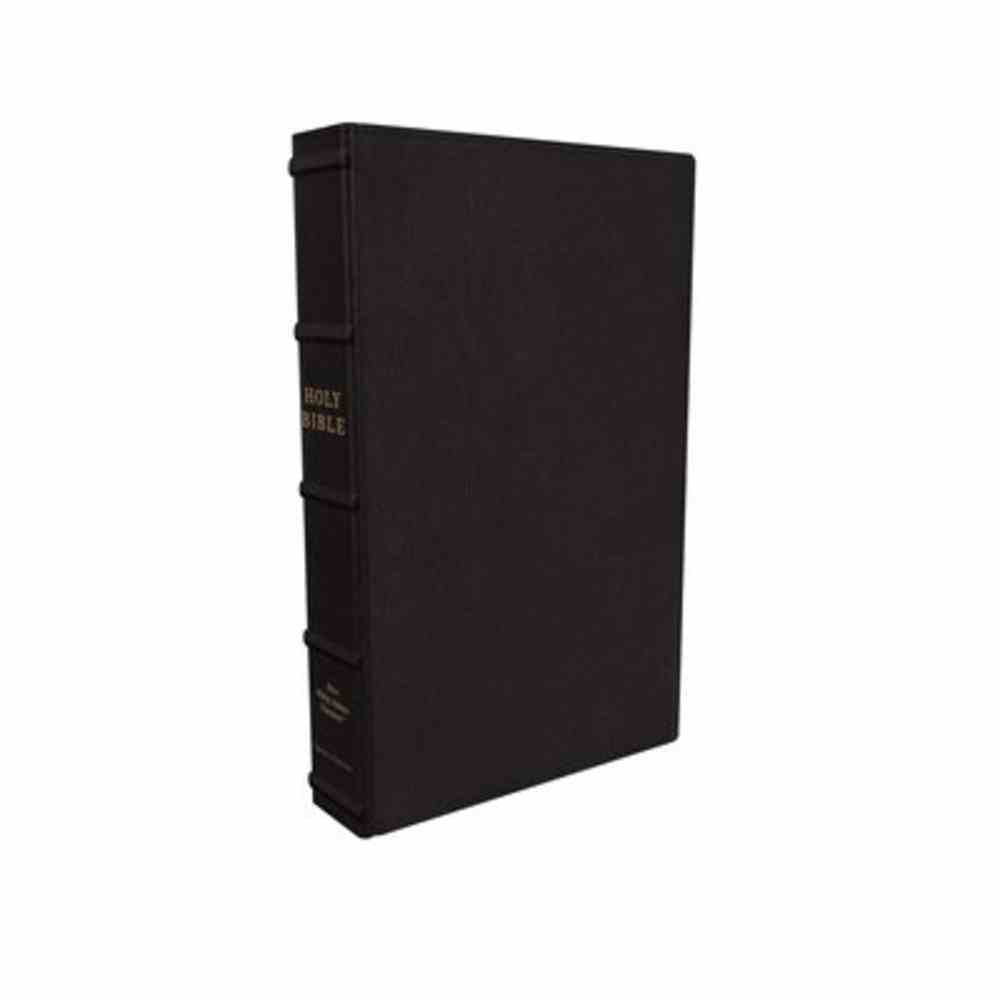 NKJV Large Print Verse-By-Verse Reference Bible Maclaren Series Black Genuine Leather