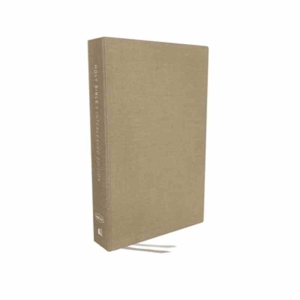 NKJV Interleaved Bible Tan (Red Letter Edition) Hardback