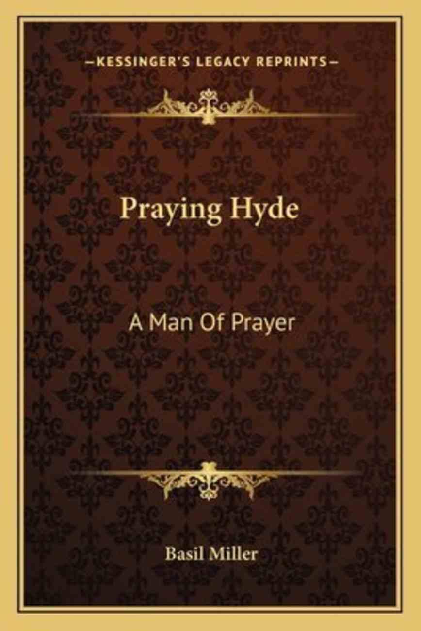 Praying Hyde Paperback