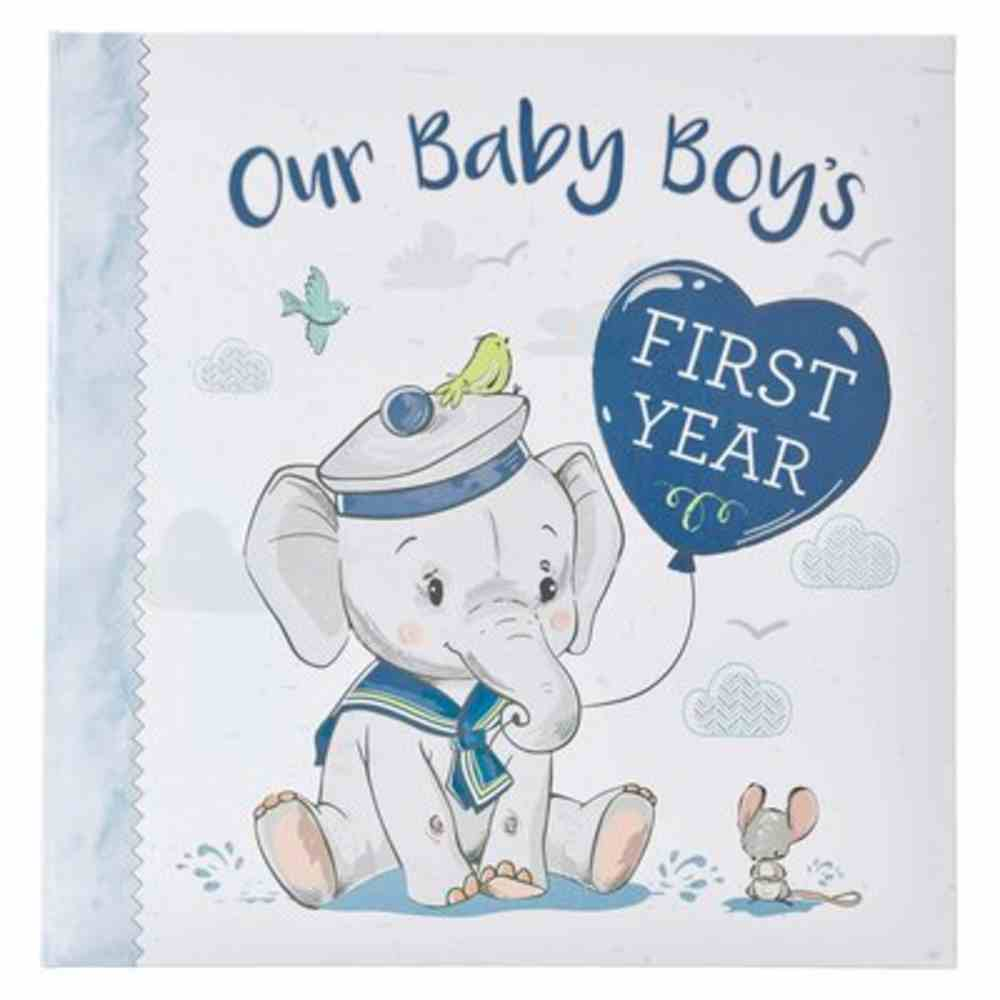 Our Baby Boy's First Year Memory Book Spiral