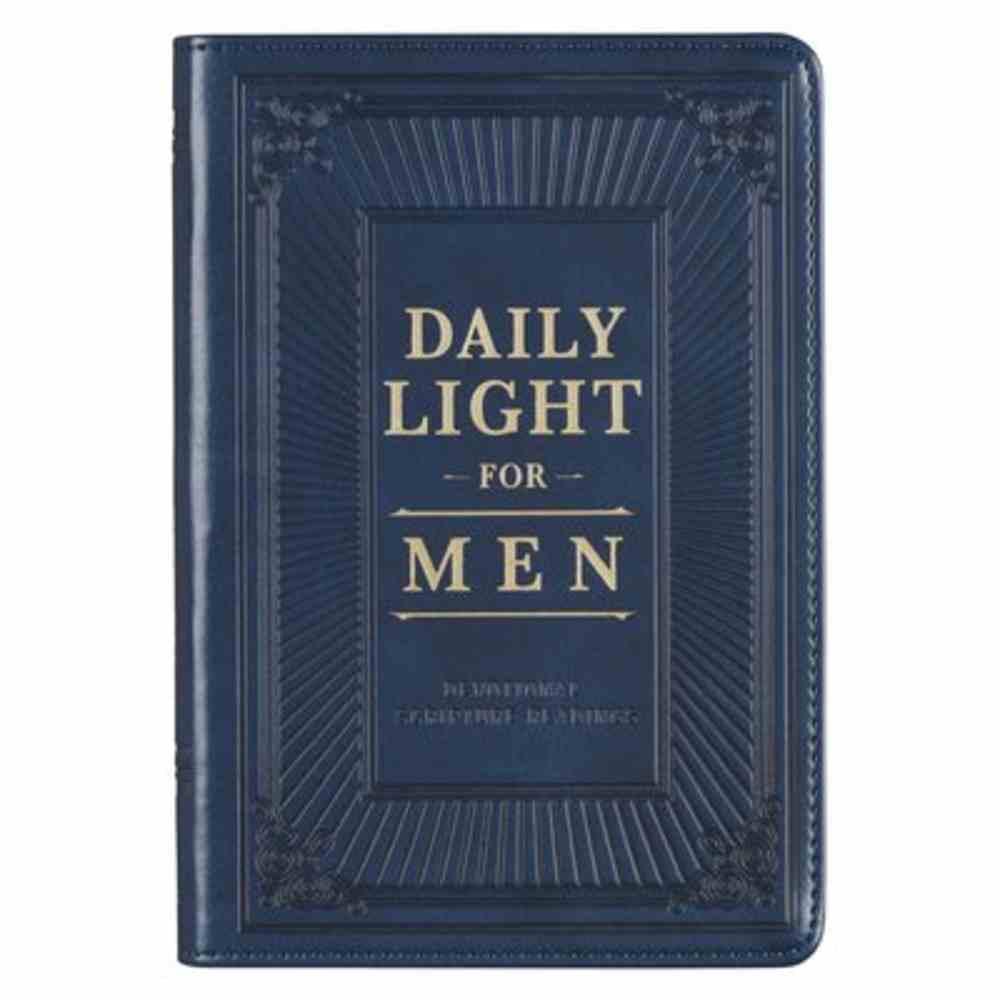 Daily Light For Men, Navy (Esv) Imitation Leather