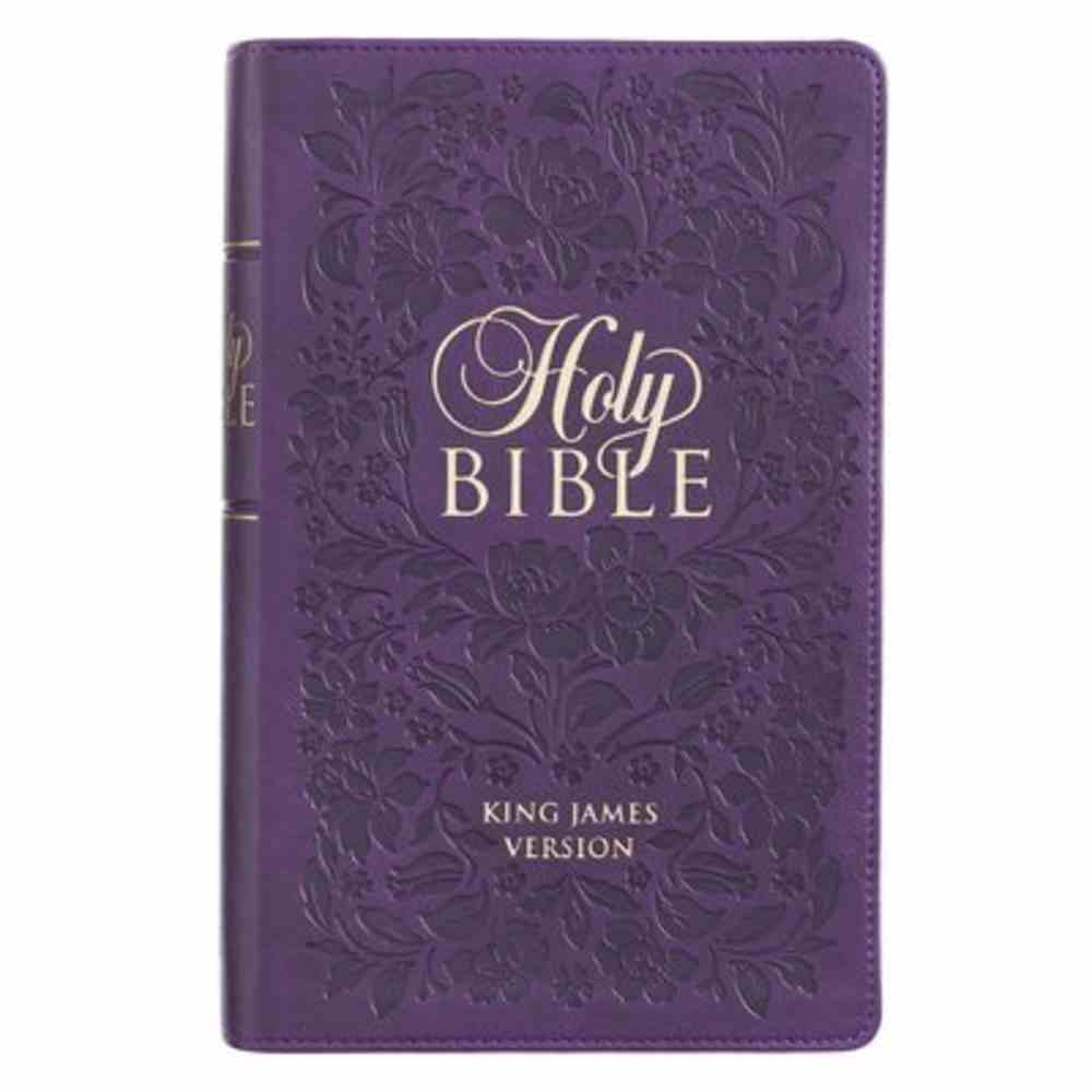 KJV Giant Print Bible Indexed Purple (Red Letter Edition) Imitation Leather