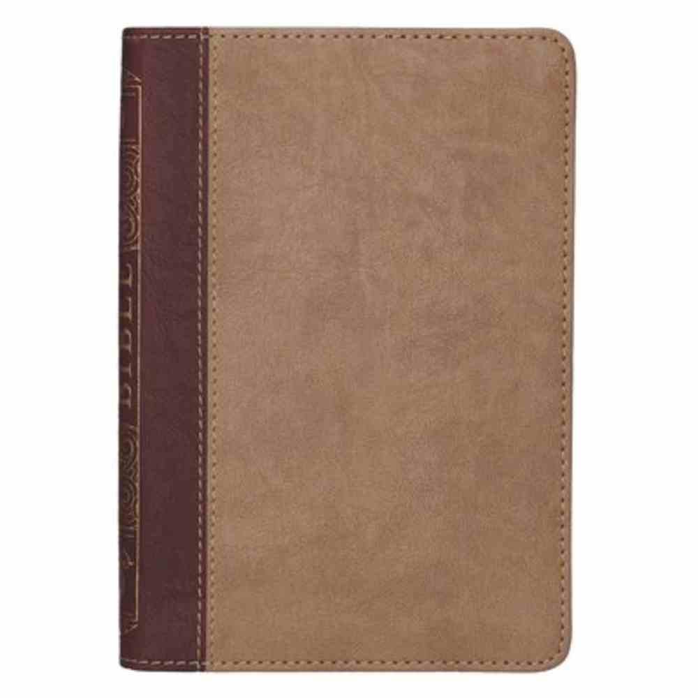 KJV Compact Holy Bible Brown/Tan (Red Letter Edition) Imitation Leather