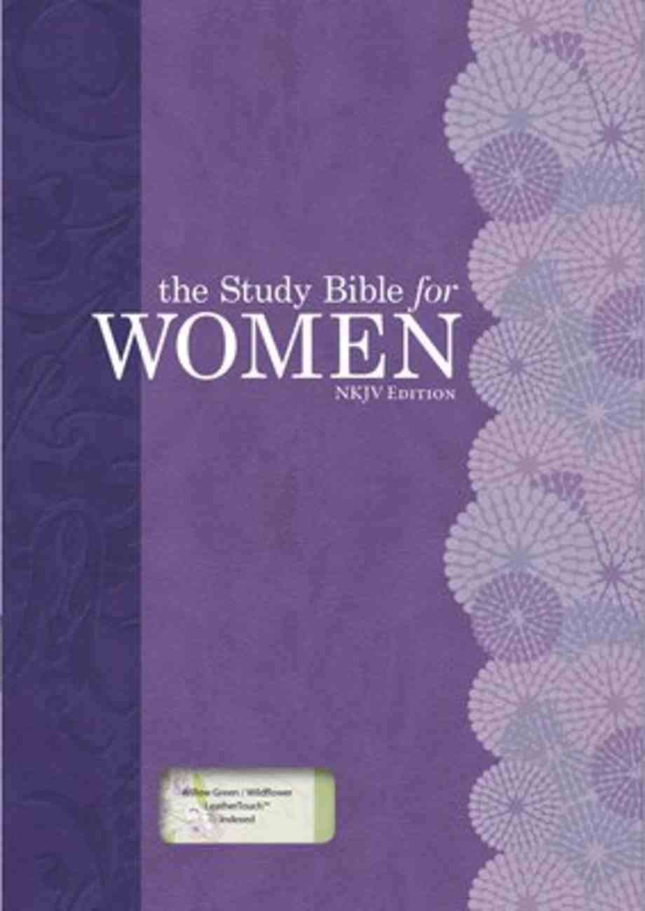 NKJV Study Bible For Women Personal Size Indexed Willow Green/Wildflower Imitation Leather