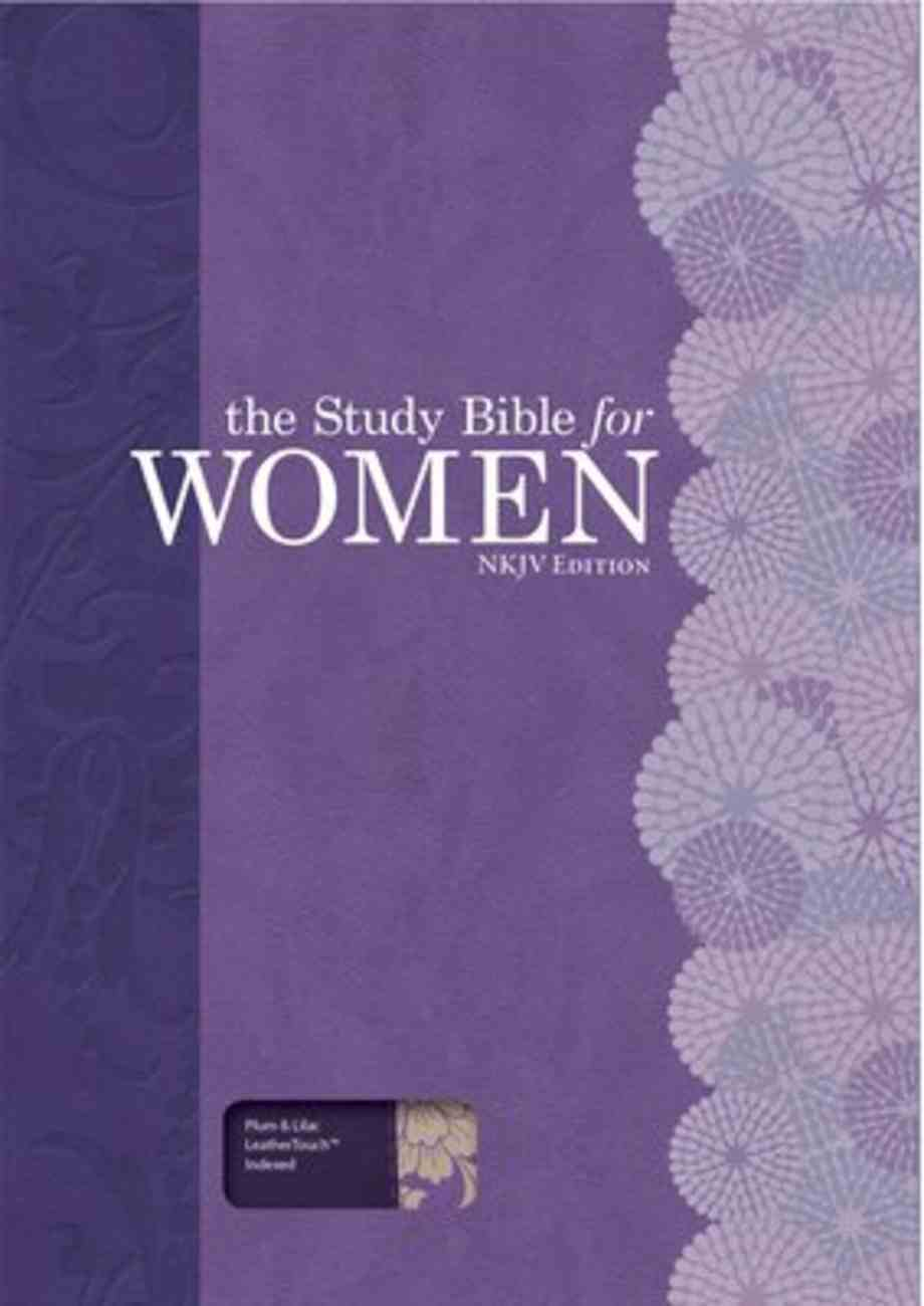 NKJV Study Bible For Women Personal Size Indexed Plum/Lilac Imitation Leather