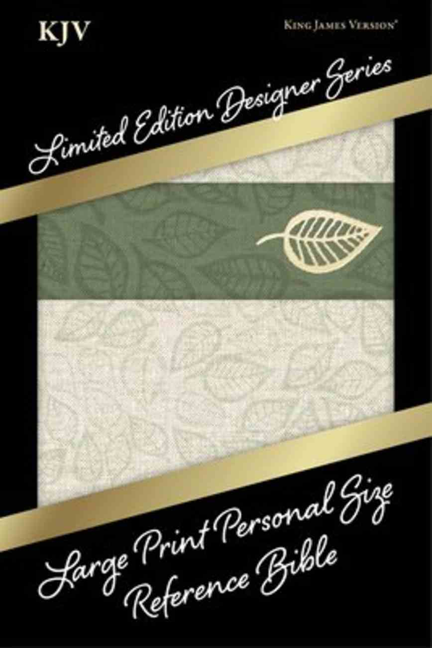 KJV Large Print Personal Size Reference Bible Designer Series Sage Green Cloth Leathertouch Imitation Leather