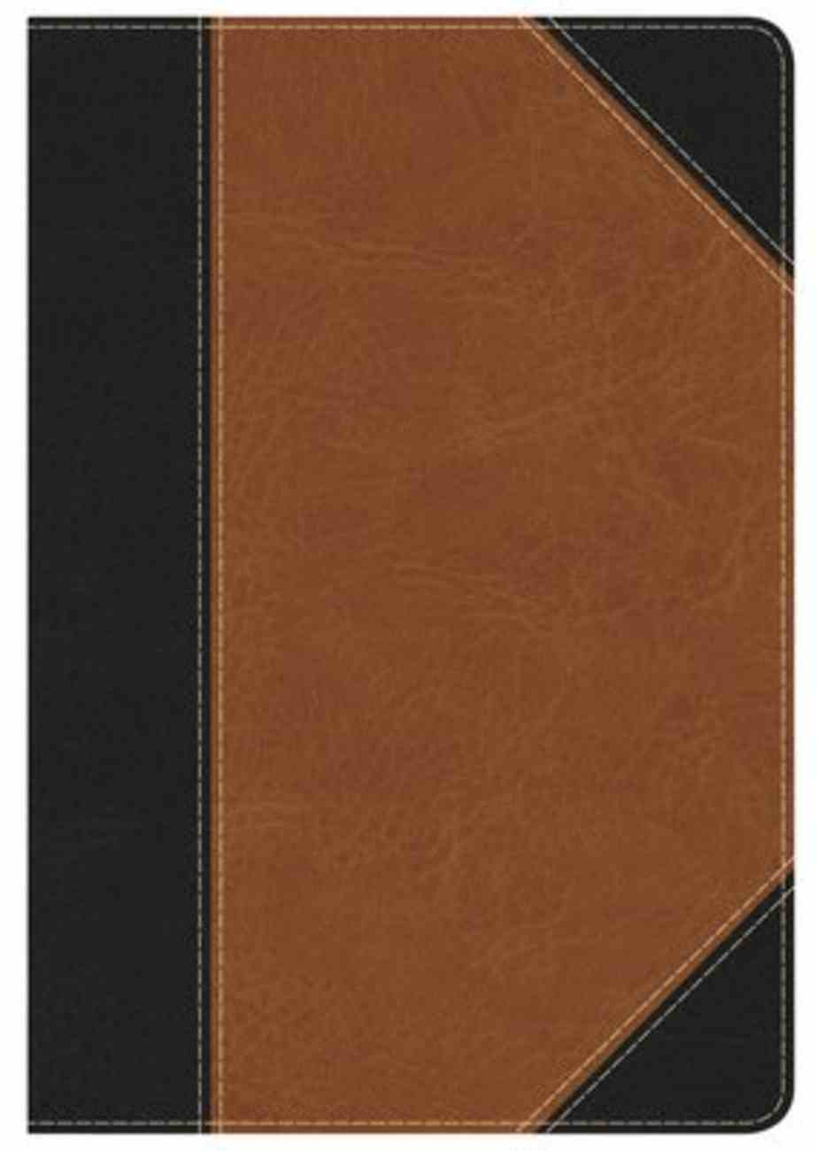 HCSB Study Bible Personal Size Indexed Black/Tan Leathertouch Imitation Leather