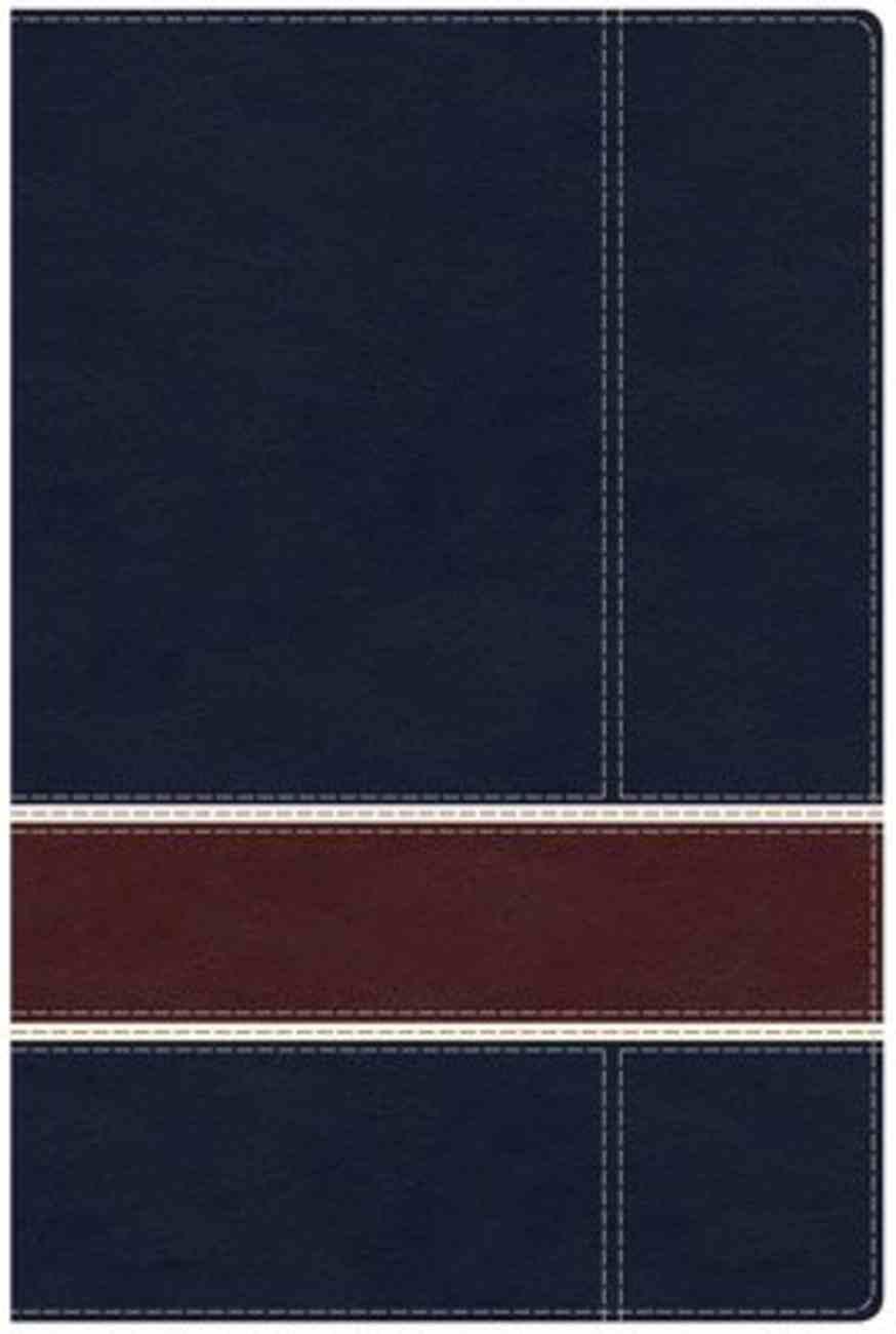 NKJV Military Families Bible Navy/Crimson Imitation Leather