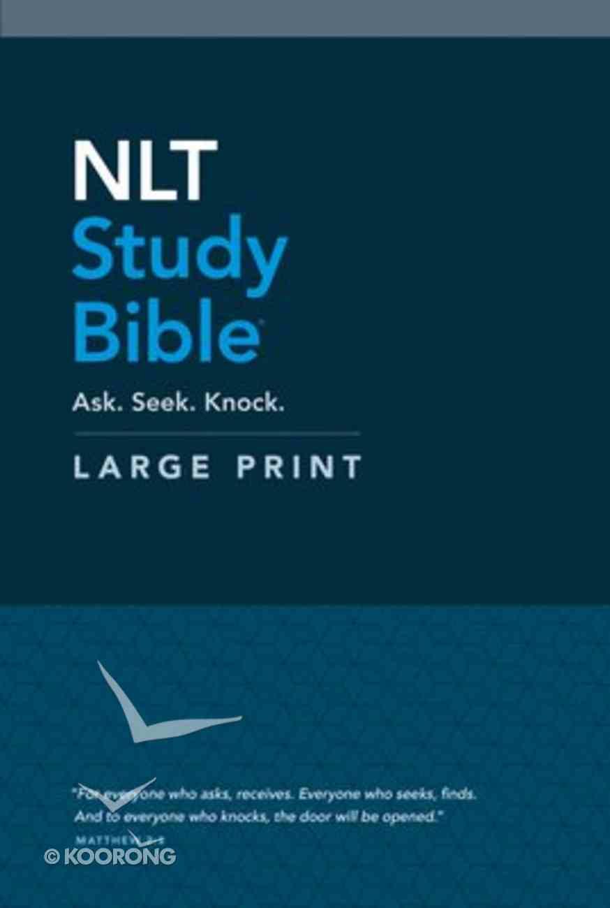 NLT Study Bible Large Print (Red Letter Edition) Hardback