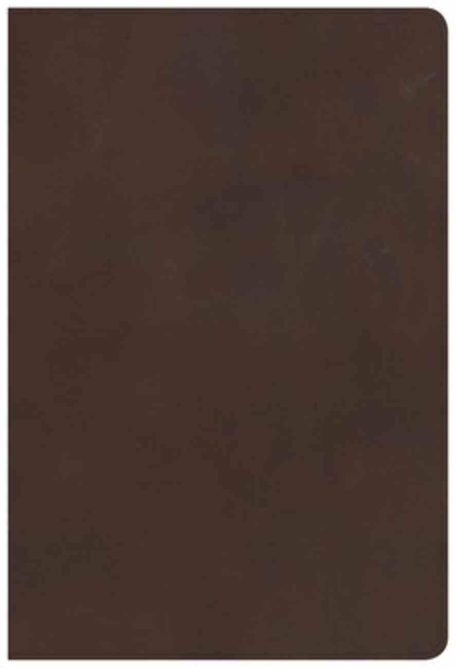 KJV Giant Print Reference Bible Brown Indexed (Red Letter Edition) Genuine Leather