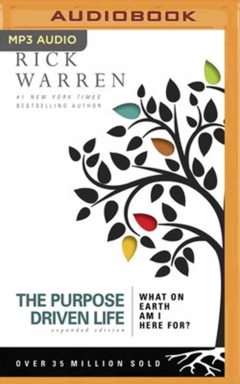 The Purpose Drive Life (Unabridged, Mp3) CD