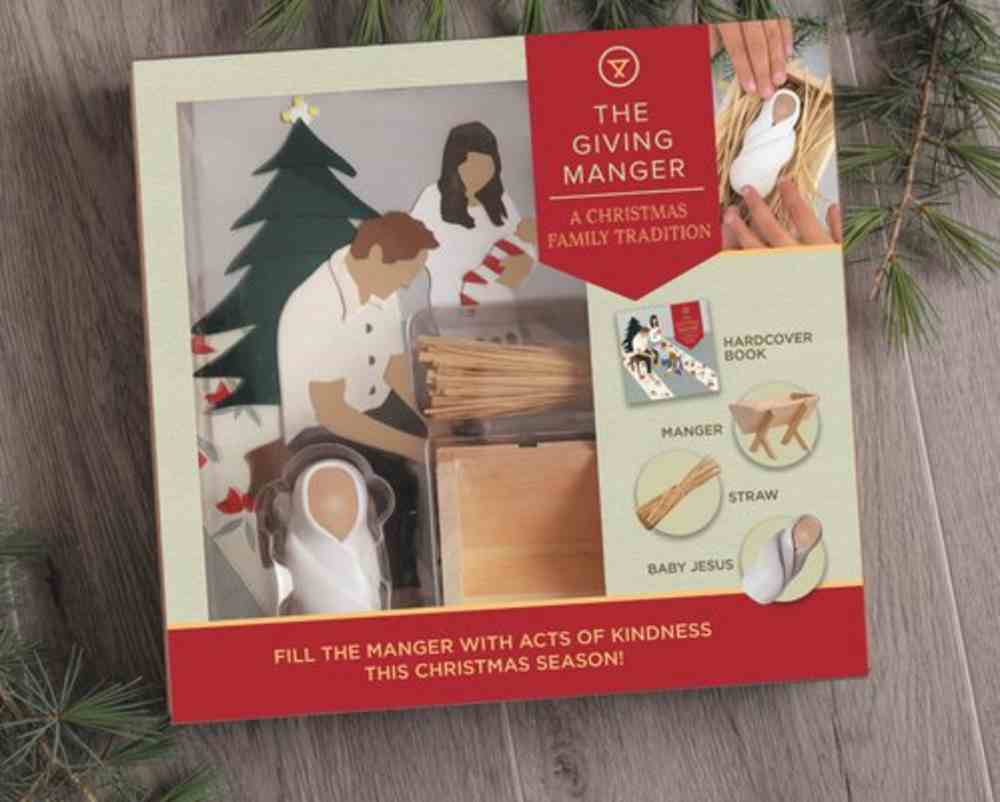The Giving Manger: A Christmas Family Tradition (Includes Hardback Book, Wooden Manger, Straw And Baby Jesus Figure) Novelty