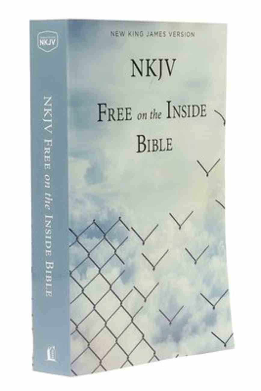 NKJV Larger Print Free on the Inside Prison Bible Paperback