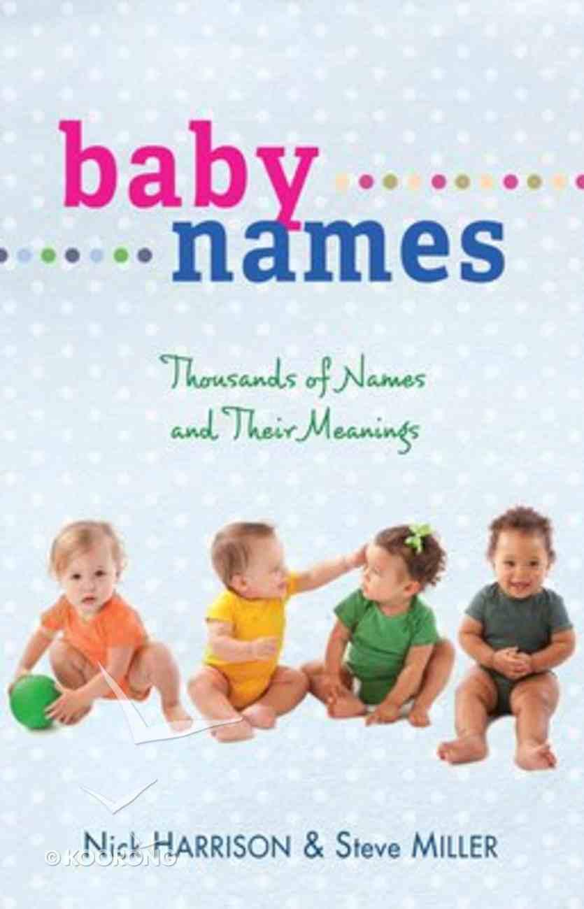 Baby Names Paperback