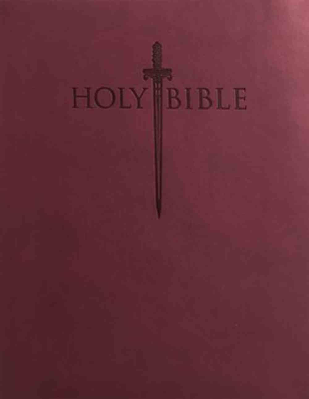 Kjver Sword Personal Size Large Print Study Bible Burgundy Imitation Leather
