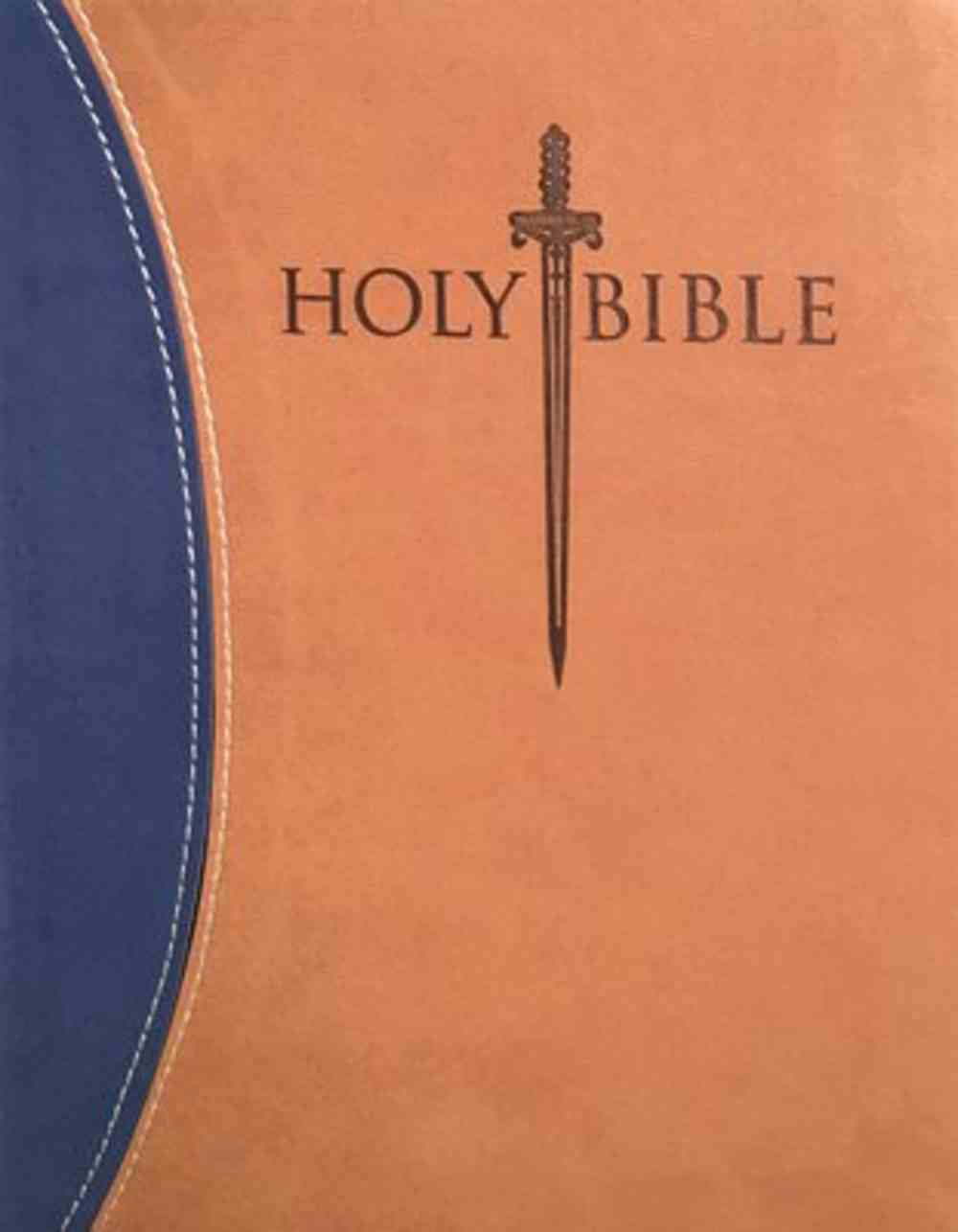 Kjver Thinline Personal Size Indexed Bible Blue/Tan Imitation Leather