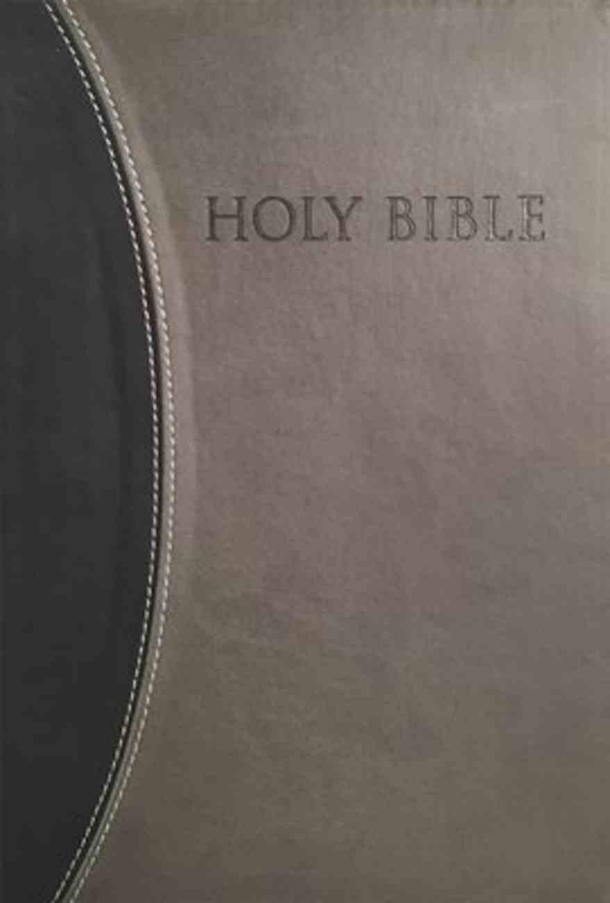 Kjver Thinline Large Print Bible Black/Grey Imitation Leather