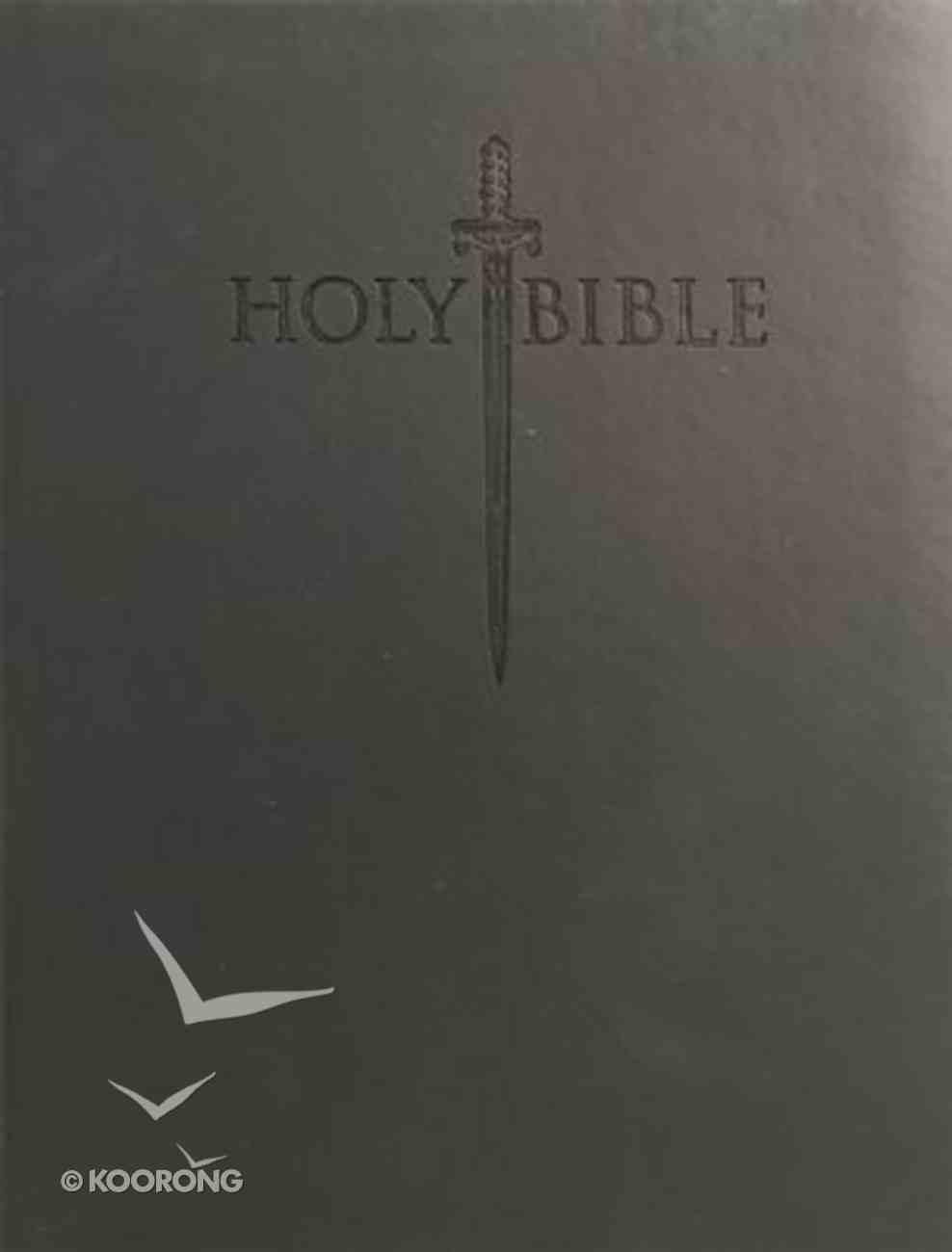 KJV Sword Study Personal Size Large Print Bible Black Imitation Leather