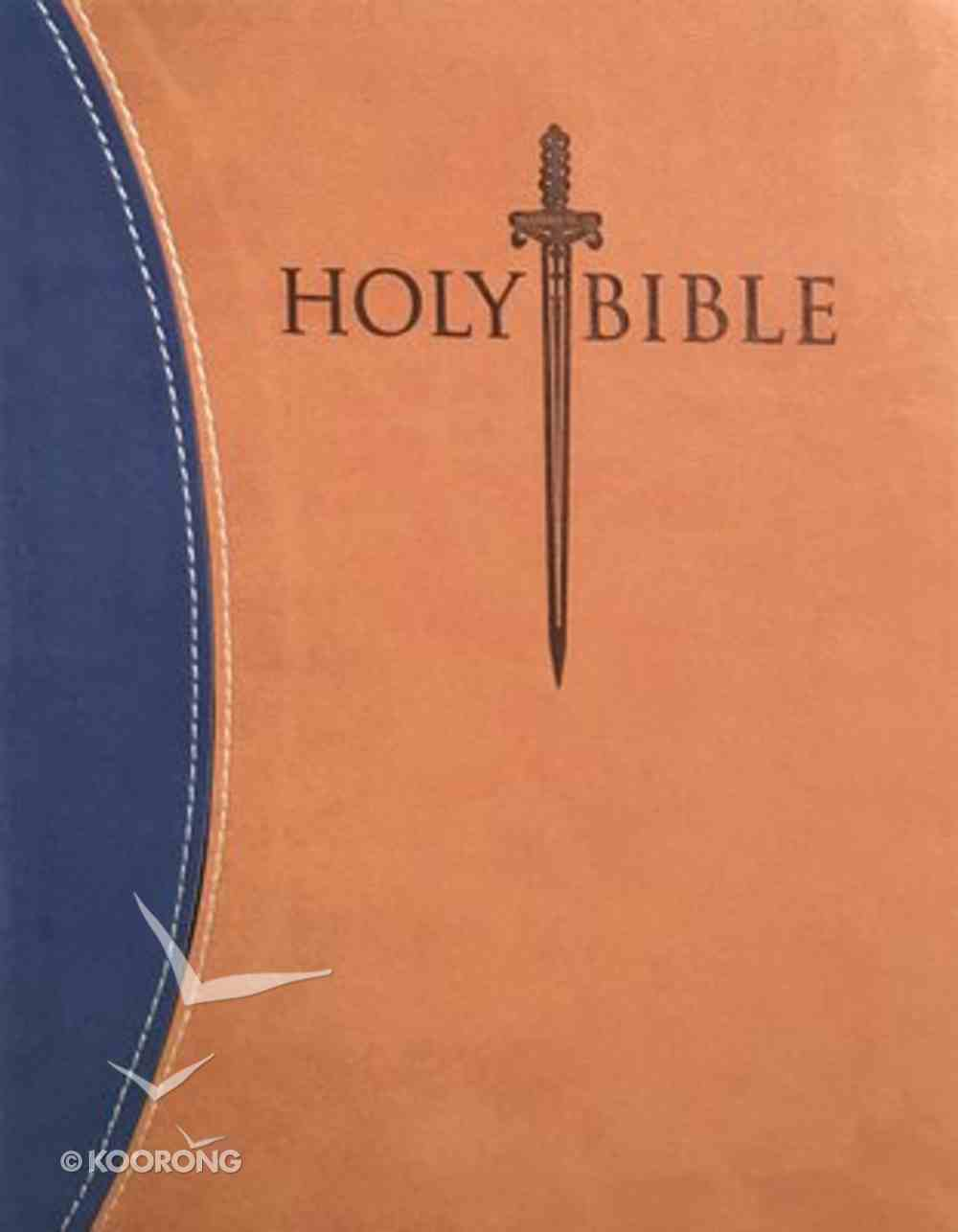 KJV Sword Study Personal Size Giant Print Indexed Bible Blue/Tan Imitation Leather