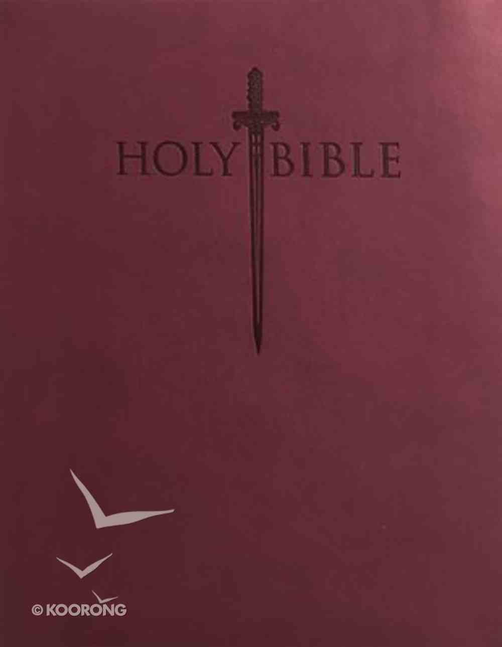 Kjver Sword Value Thinline Bible Personal Size Burgundy (Red Letter Edition) Imitation Leather