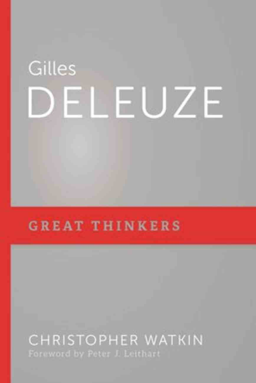 Gilles Deleuze (Great Thinkers Series) Paperback