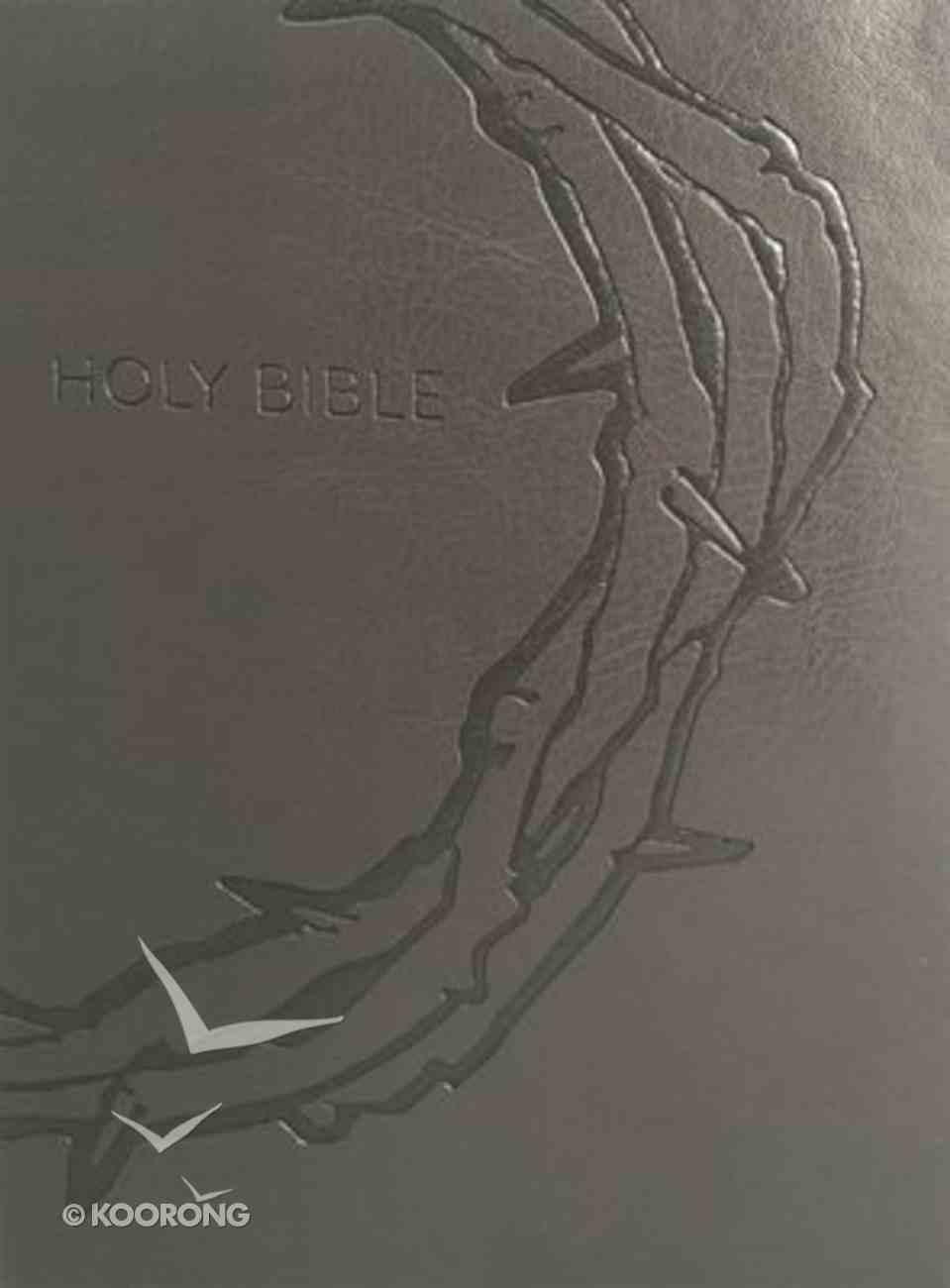 Kjver Sword Study Bible Giant Print Designer Charcoal Ultrasoft Crown of Thorns (Red Letter Edition) Imitation Leather