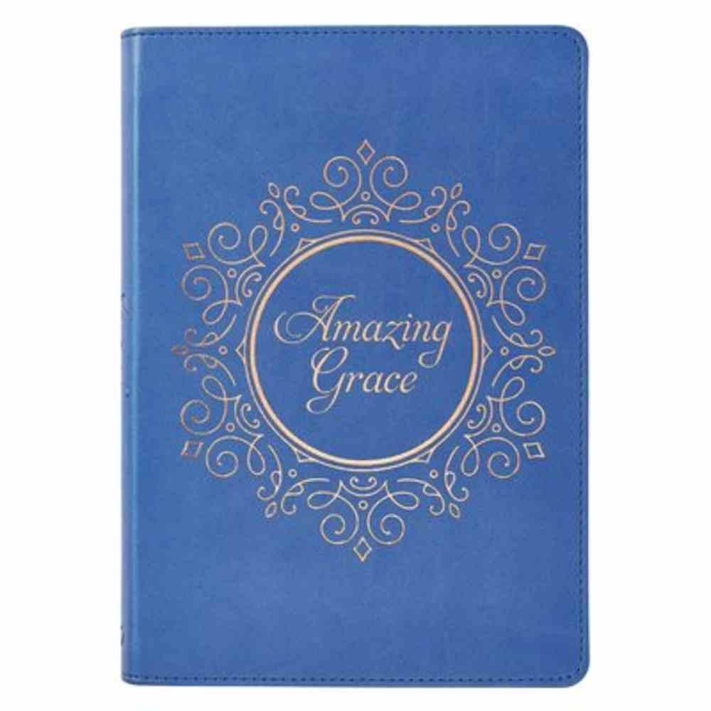 Journal: Amazing Grace, Navy Imitation Leather