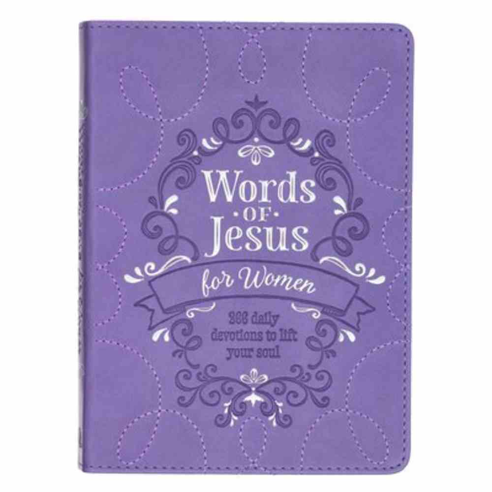 Words of Jesus For Women: 366 Day Devotional, Purple With Ribbon Marker Imitation Leather
