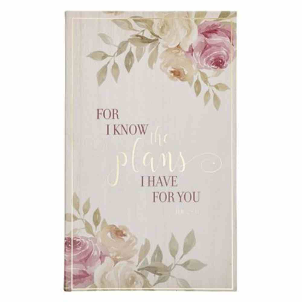 Journal: For I Know the Plans, Floral Flexi Back