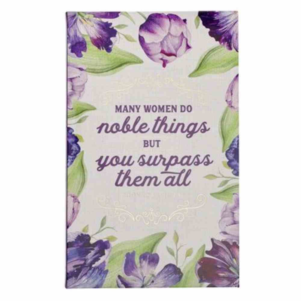 Journal: Many Women Do Noble Things, Floral Flexi Back