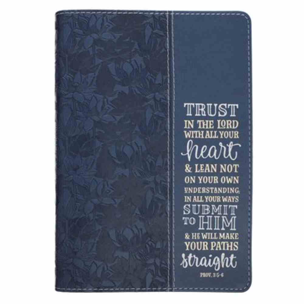 Journal: Trust in the Lord, Navy, Slimline Imitation Leather