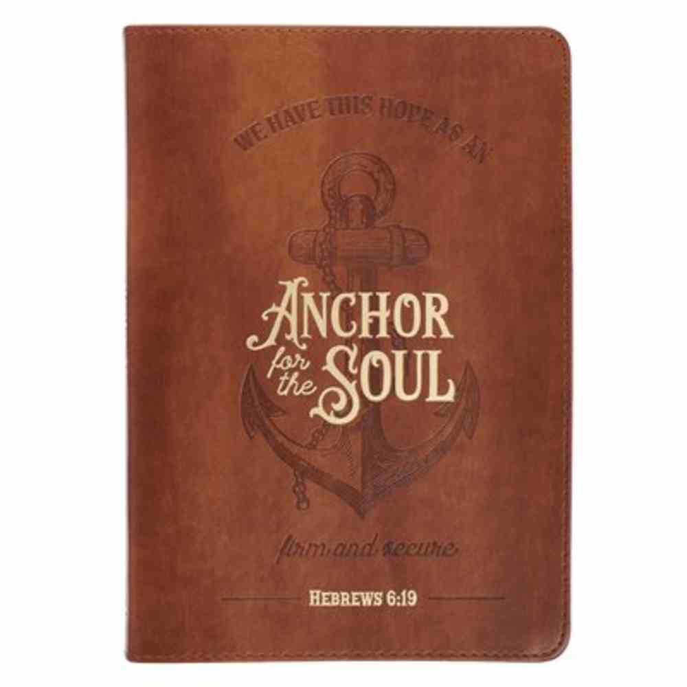 Journal: Anchor For the Soul, Brown Imitation Leather