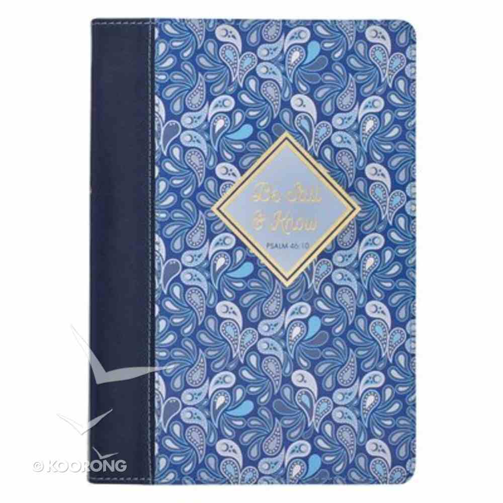 Journal: Be Still and Know, Blue Paisley Imitation Leather