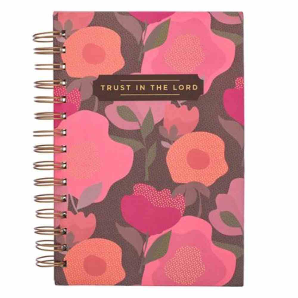 Journal: Trust in the Lord, Coral Floral Spiral