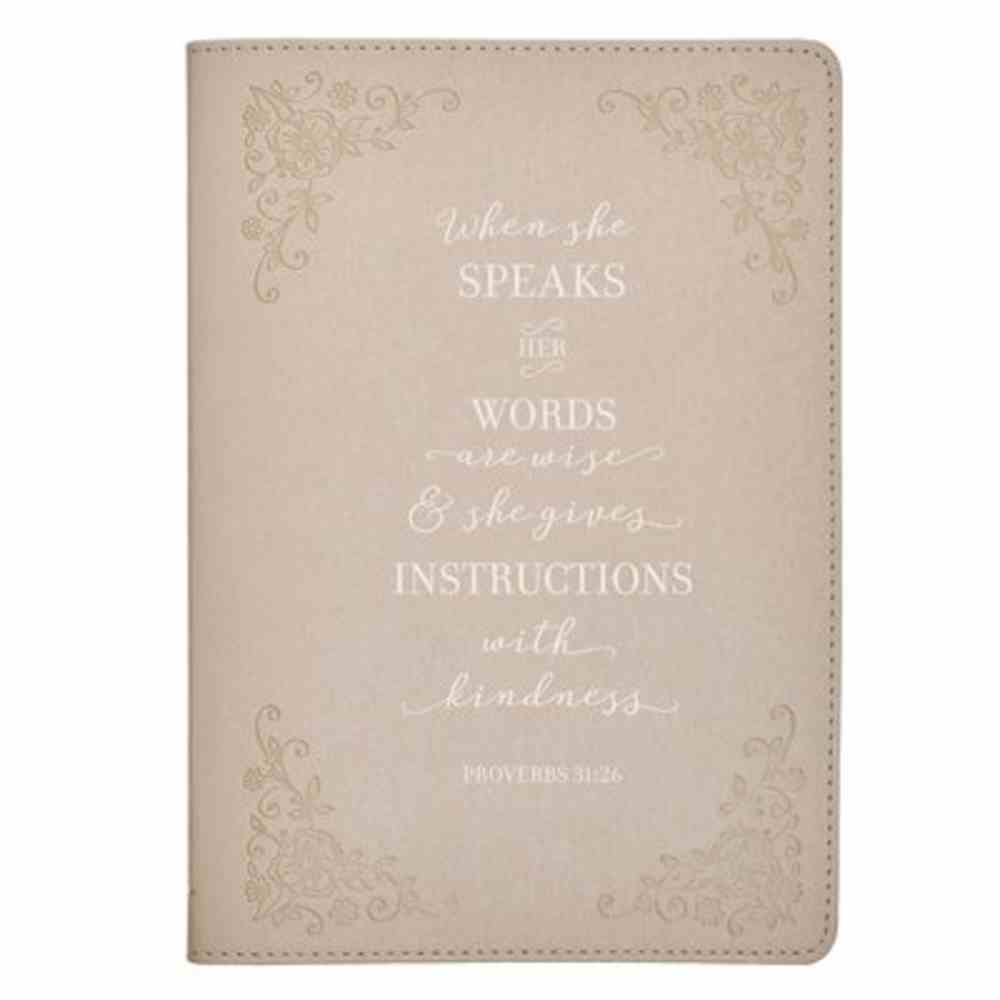 Journal Ivory, Foil Accents (Proverbs 31: 26) (When She Speaks Collection) Imitation Leather