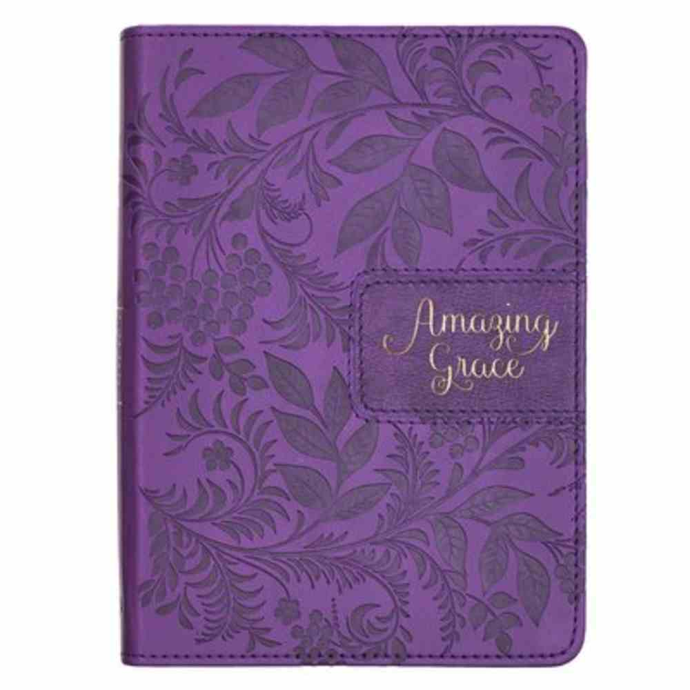 Journal: Amazing Grace, Purple, Handy-Sized Imitation Leather