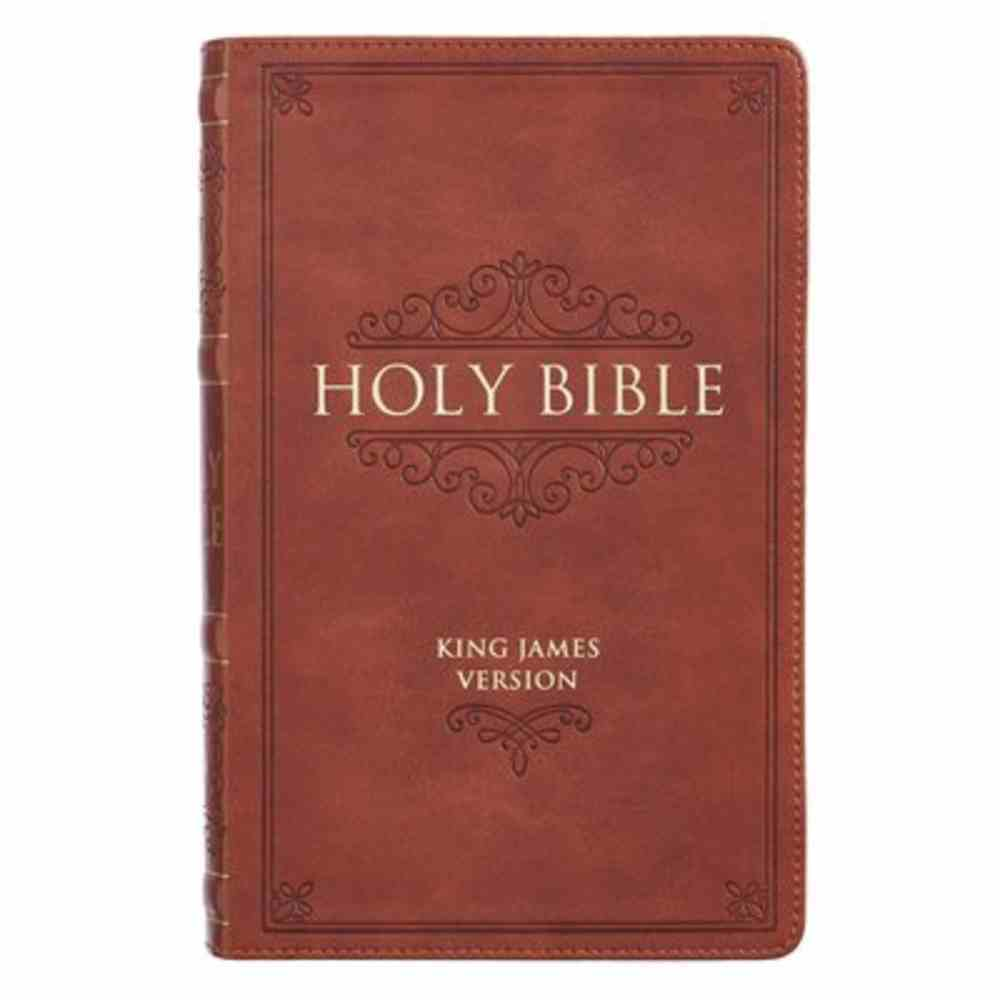 KJV Giant Print Bible Indexed Brown (Red Letter Edition) Imitation Leather