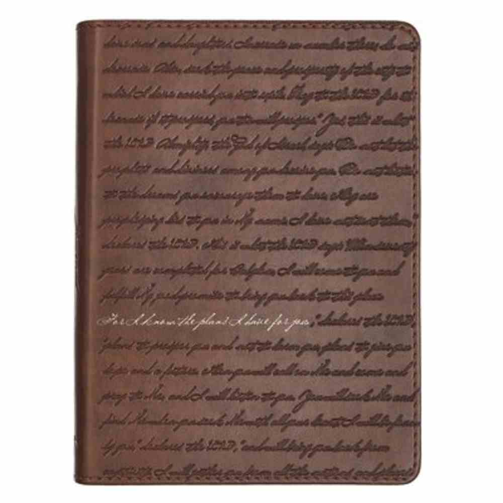 Journal: For I Know the Plans, Brown, Handy-Sized Imitation Leather