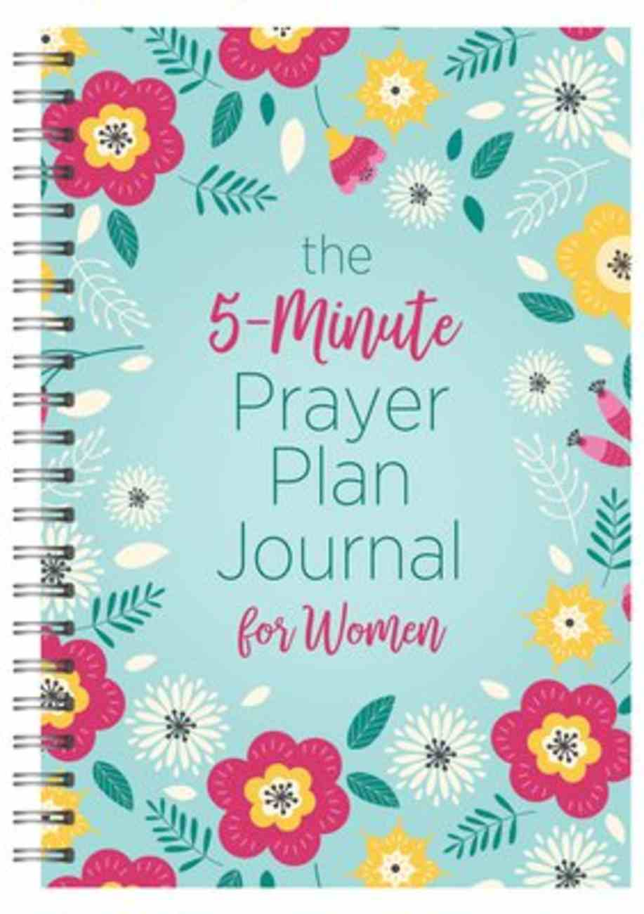 The 5-Minute Prayer Plan Journal For Women Spiral